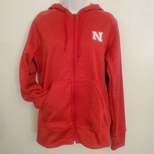 Adidas Nebraska Cornhuskers zip up hoodie large